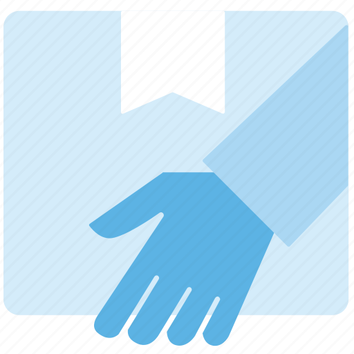 hand, handed, parcel, post icon