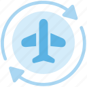 air, avion, international, par, shipping icon