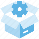 cogwheel, logistic delivery, logistics, package, preferences, seo package, setting icon