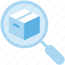 delivery, parcel, search, track icon