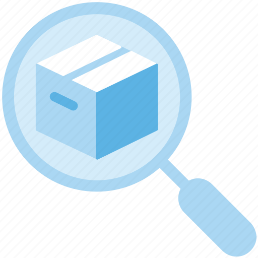 Delivery, parcel, search, track icon - Download on Iconfinder