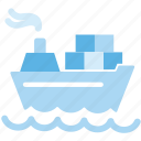 cargo, ship, shipping icon
