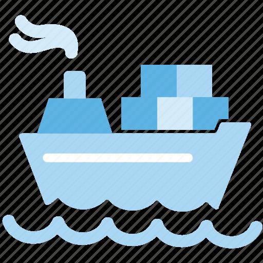 cargo, ship, shipping icon