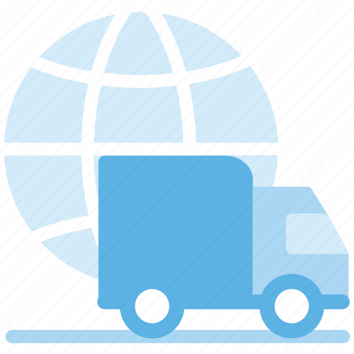 delivery, global, international, truck icon