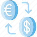 convert, converter, currency, dollar, euro, exchange, money icon