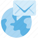 correspondence, campaign, globe, envelope, inbox, mail, email