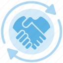 agreement, business, deal, finance, handshake, partnership icon