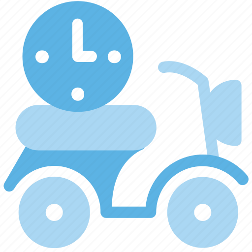 Delivery, fast, fast delivery, scooter, timing icon - Download on Iconfinder