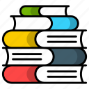 books, documentation, manuals, knoledge, library, history, journal icon