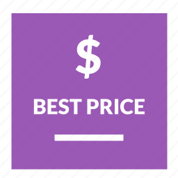 best, dollar, guarantee, label, price icon