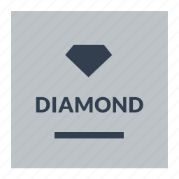diamond, guarantee, label icon
