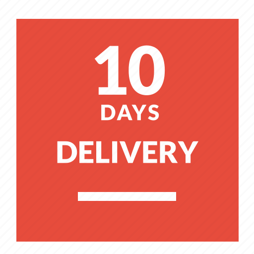 day, delivery, guarantee, label, one icon