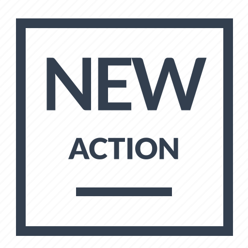 action, guarantee, label, new icon