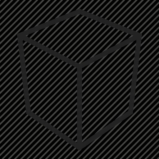 box, cube, square icon