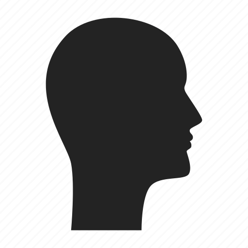 head, profile, user icon