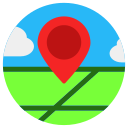 location, map, pin, placeholder icon