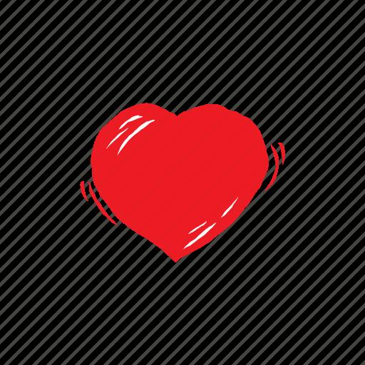 heart, love, romantic, tremble, valentine, wedding icon