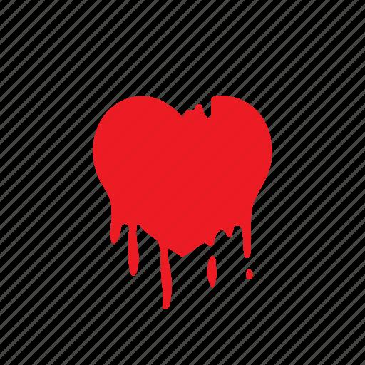 broken, heart, hurt, love, sick, valentine icon