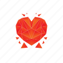 broken, heart, love, valentine icon