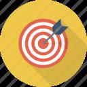 goal, arrow, target icon, aim, bullseye, center shoot