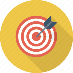 aim, arrow, bullseye, center shoot, goal, target icon icon