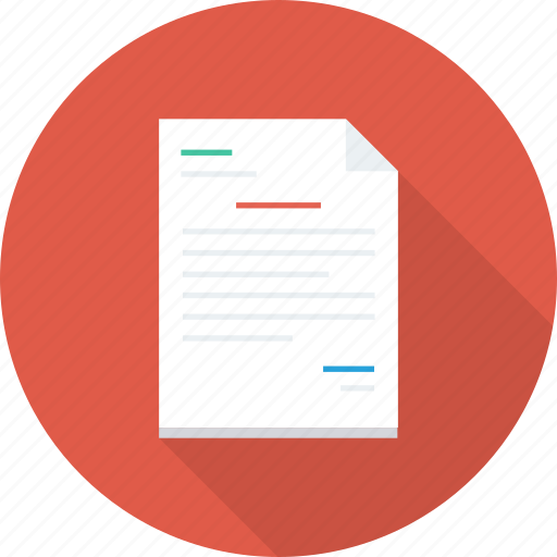 document, extension, file, format, list, paper icon, text icon