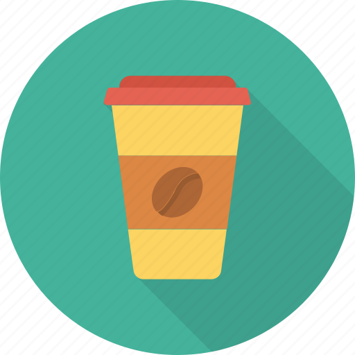 coffee, glass, paper icon icon