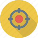 crosshair, pin point, shoot, target icon icon