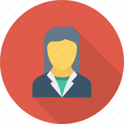boss, female, lady, woman, woman manager icon icon