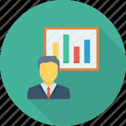graph, lecture, presentation, studing, training icon icon