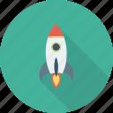 startup icon, spaceship, rocket