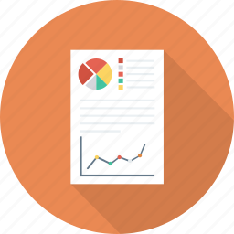 analytics, docs, documents, graph, pdf, report, statistics icon icon