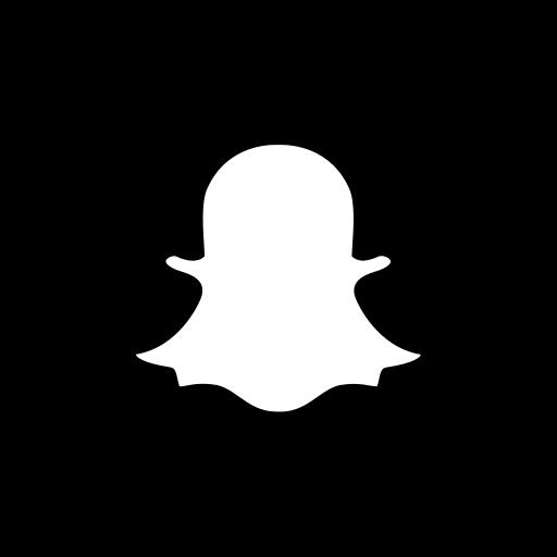 App, b/w, logo, media, popular, snapchat, social icon