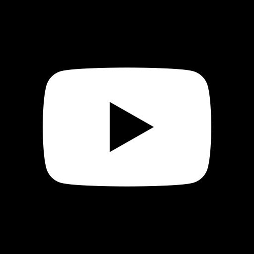 App, b/w, logo, media, popular, social, youtube icon