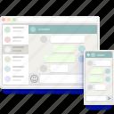 app, chat, conversation, hangout, messenger, telegram, whatsapp icon