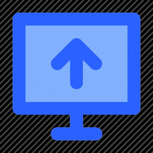 arrow, computer, internet, network, upload icon