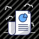 data, diagram, report icon