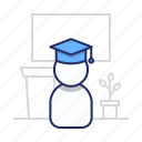 graduate, student, university icon