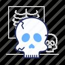 death, skeleton, skull icon