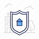 house, security, shield