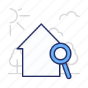 home, magnifier, search icon