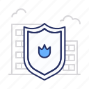 fire, protect, shield icon