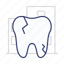 crack, disease, tooth icon