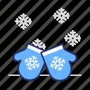 cold, mittens, winter icon