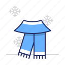 clothes, scarf, winter