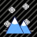 mountains, snow, winter icon
