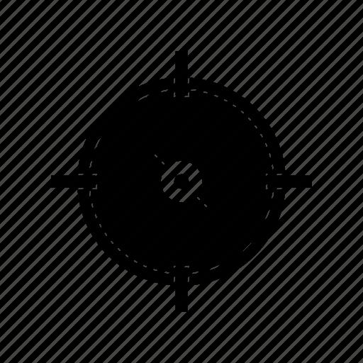 aim, archery, focus, goal, location, target icon