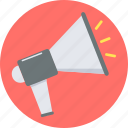 advertising, alert, announcement, attention, bullhorn, communication, marketing icon