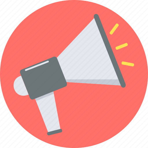 advertising, alert, announcement, attention, bullhorn, communication, marketing icon