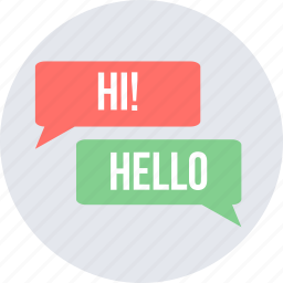chat, chatting, hello, hi, message, sms, text icon
